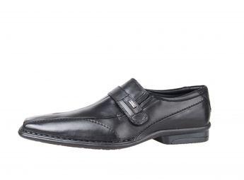 Bugatti pánske čierne spoločenské topánky na suchý zips