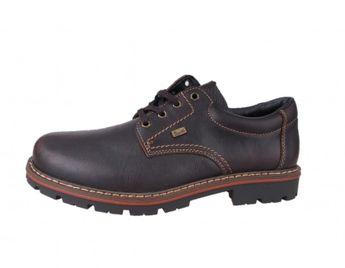 Rieker pánske hnedé kožené topánky