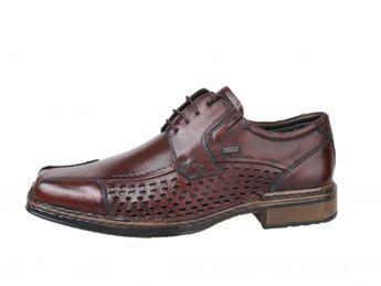 Bugatti pánske perforované topánky - hnedé
