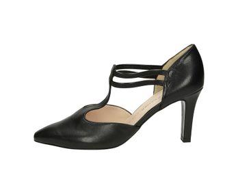 Peter Kaiser dámske sandále na podpätku - čierne