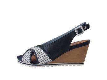 Pikolinos dámske čierno biele sandále
