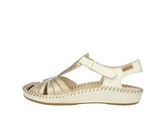 Pikolinos dámske kožené sandále - bielozlaté