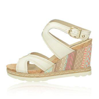Pikolinos dámske kožené sandále - biele