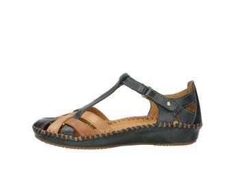 Pikolinos dámske kožené sandále - modrohnedé