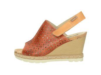 Pikolinos dámske kožené sandále - koňakové