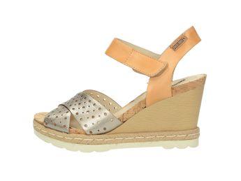 Pikolinos dámske sandále na klinovej podošve - multicolor