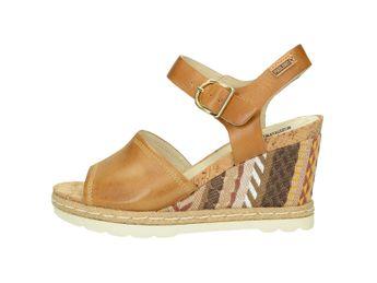 Pikolinos dámske sandále na klinovej podrážke - žlté