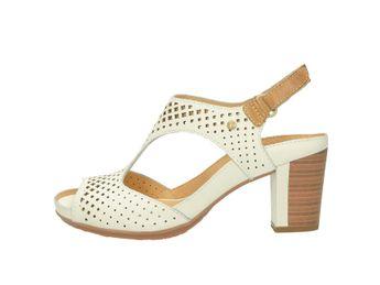 Pikolinos dámske sandále na podpätku - biele