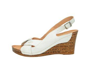 Pollonus dámske sandále - biele