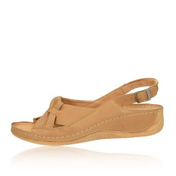 Pollonus dámske sandále - koňakové