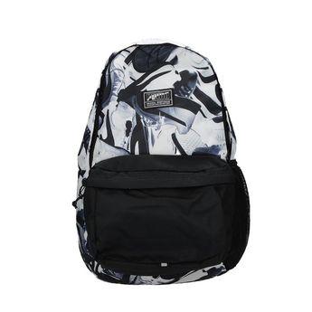 Puma unisex praktický vzorovaný ruksak - čiernobiely