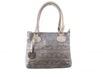 Remonte dámska šedá kabelka s kamienkami