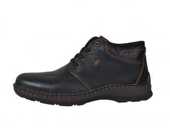 Rieker pánske čierne zimné topánky