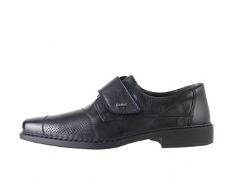 Rieker čierne spoločenské topánky na suchý zips