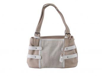 Rieker dámska béžovo-biela kabelka s perforáciou