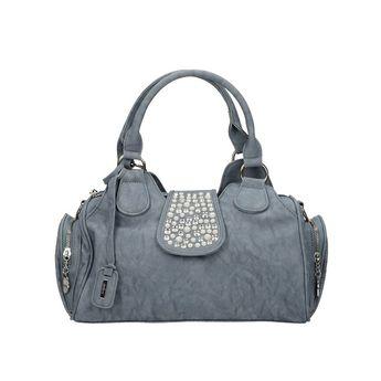 Rieker dámska elegantná kabelka s ozdobnými kamienkami - modrá