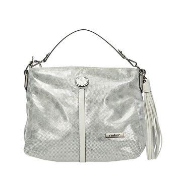 Rieker dámska elegantná kabelka - strieborná