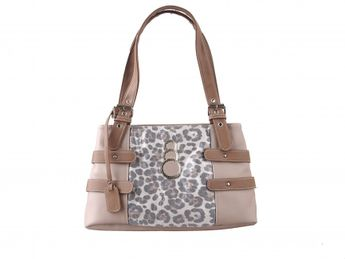 Rieker dámska hnedá kabelka s leopardovým vzorom