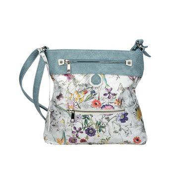 Rieker dámska štýlová kabelka s kvetovým motívom - multicolor