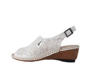 Rieker dámske biele kožené sandále