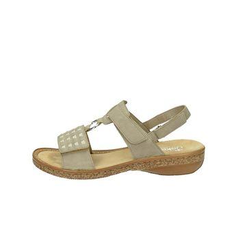 Rieker dámske elegantné sandále na suchý zips - béžové