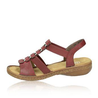 Rieker dámske pohodlné sandále - bordové