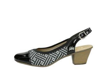 Rieker dámske sandále - čierne