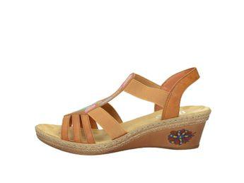 Rieker dámske sandále - hnedé