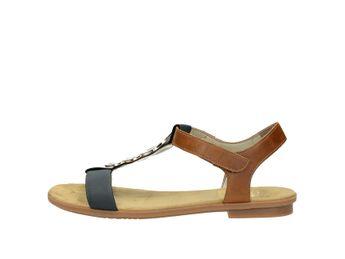 Rieker dámske sandále - modrohnedé