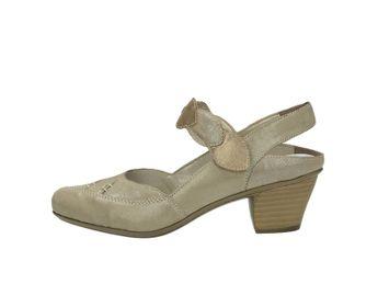 Rieker dámske sandále na podpätku - šedé