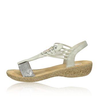 Rieker dámske sandále - šedé
