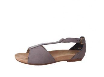 Rieker dámske šedé kožené sandále