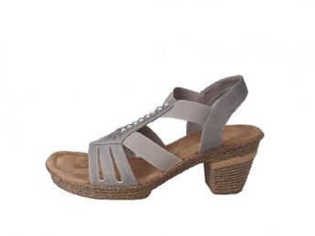 Rieker dámske šedé sandále