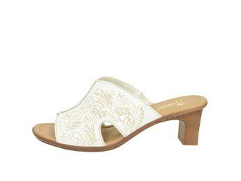 Rieker dámske šľapky - biele