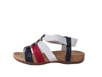 Rieker dámske viacfarebné kožené sandále