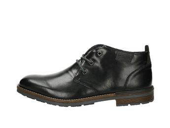 Rieker pánska lesklá členková obuv - čierna