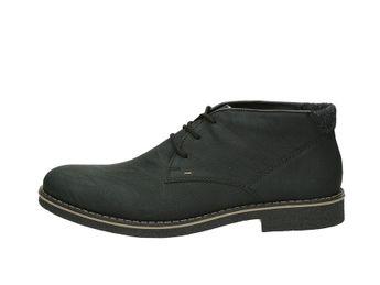 Rieker pánska módna členková obuv - čierna