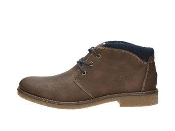 Rieker pánska módna členková obuv - hnedá