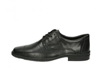 Rieker pánske čierne spoločenské topánky