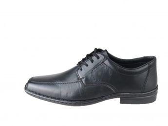 Rieker pánske čierne šnurovacie topánky