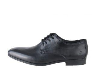 Rieker pánske čierne kožené topánky