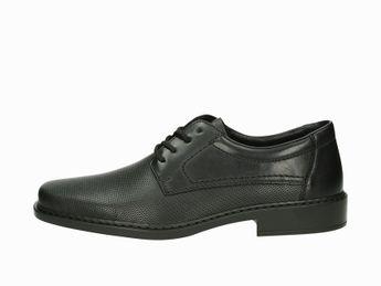 Rieker pánske kožené spoločenské topánky - čierne