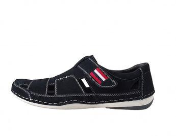 Rieker pánske sandále na suchý zips - modré