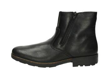 Rieker pánske pohodlné čižmy - čierne