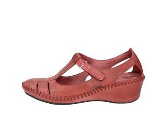 Robel dámske pohodlné sandále na suchý zips - bordové