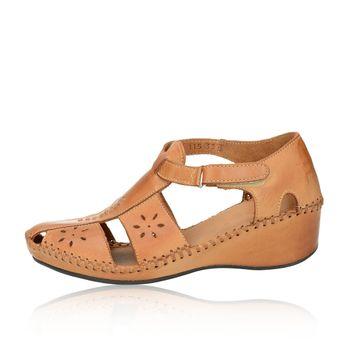 Robel dámske pohodlné sandále na suchý zips - béžové