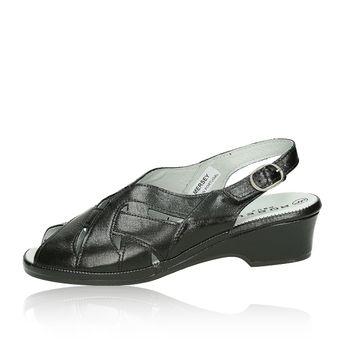 Robel dámske pohodlné sandále s remienkom - čierne