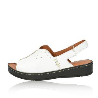 Robel dámske praktické pohodlné sandále - biele