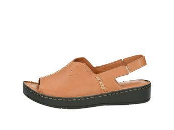 Robel dámske praktické pohodlné sandále - hnedé