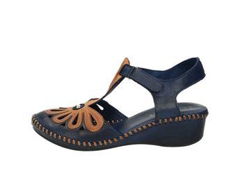 Robel dámske štýlové sandále - modrohnedé